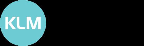 KLM Solicitors - logo blue and black